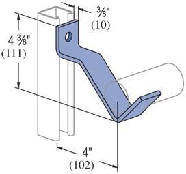 unistrut P2482 pipe brackets p2482 pipe brackets   R  S  Dale